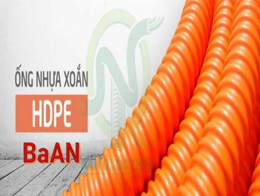cung cấp Ống Nhựa HDPE BaAn